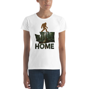 Sasquatch Washington State Map Home Women's Graphic T-Shirt
