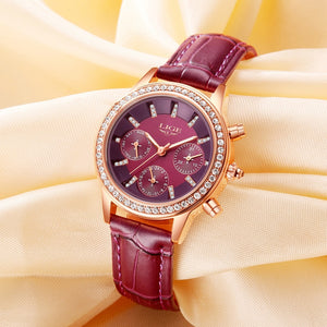Women's Luxury Brand Casual Watch Purple - Shiny jewels store