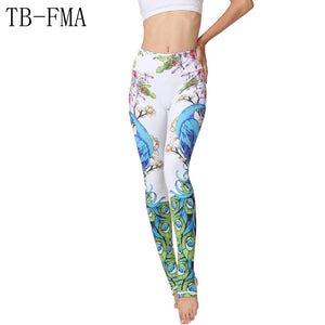 Yoga pants with amazing colorful print - Shiny jewels store