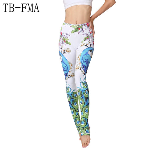 Yoga pants with amazing colorful print