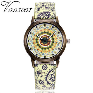 Mosaic Flowers Beautiful Fashion Women's Watch