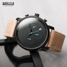 Simple Analogue Black Quartz Watch Leather Bracelet - Shiny jewels store