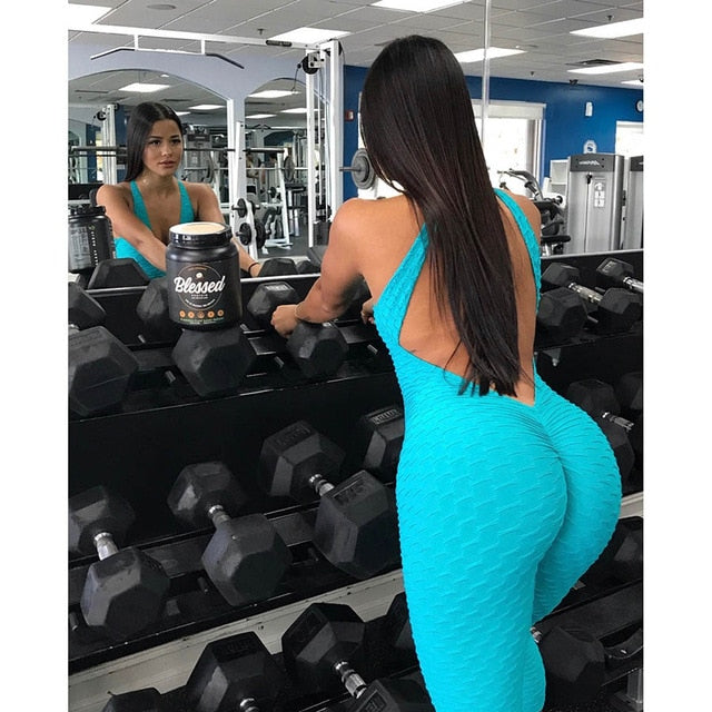 Women's One-piece Fitness Sports Suit