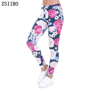 Beautiful Floral Leggins for yoga fitness - Shiny jewels store