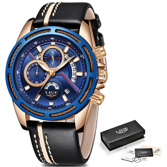 Mens Luxury Business Waterproof Watches - Shiny jewels store