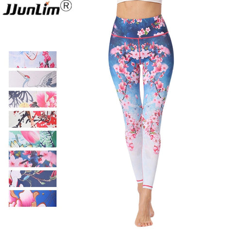 Flower Printed Fitness - Yoga Leggings