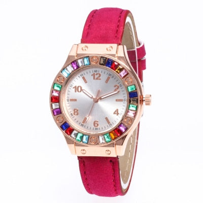 Luxury Women's leather band Fashion Watches