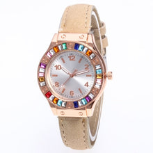 Luxury Women's leather band Fashion Watches - Shiny jewels store