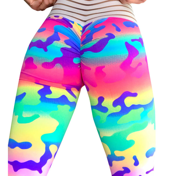 Women's Crazy Colors Fashion Workout Leggings