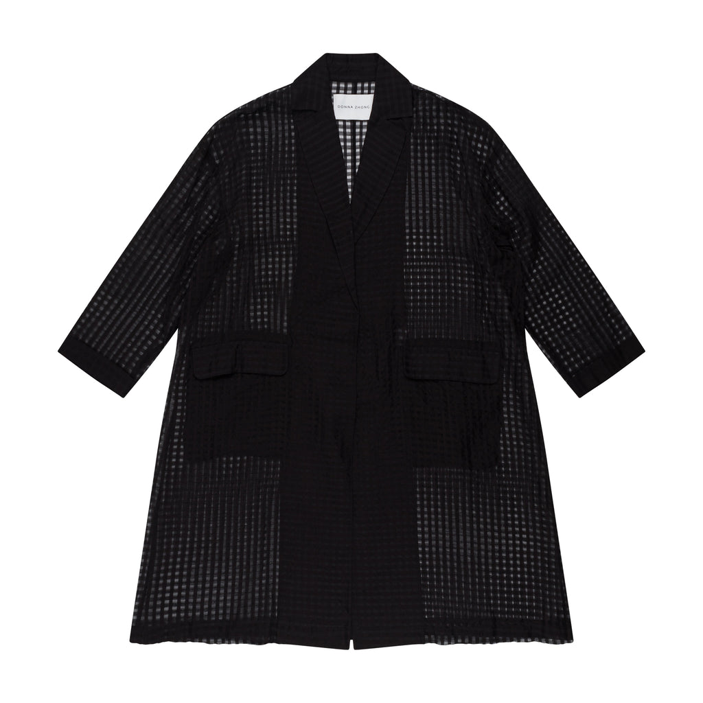 OVERSIZE SILK COTTON CHECKCOAT - 2s-twoways