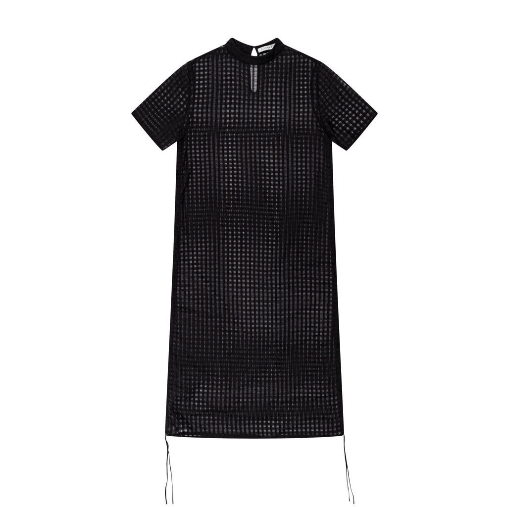 TWOWAYS SILK COTTON CHECK DRESS - 2s-twoways