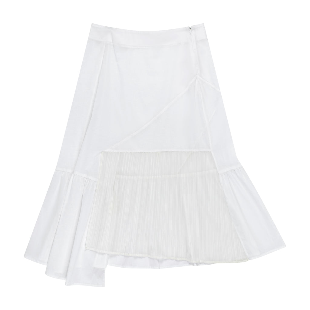 PATCH PLEATS SKIRT - 2s-twoways
