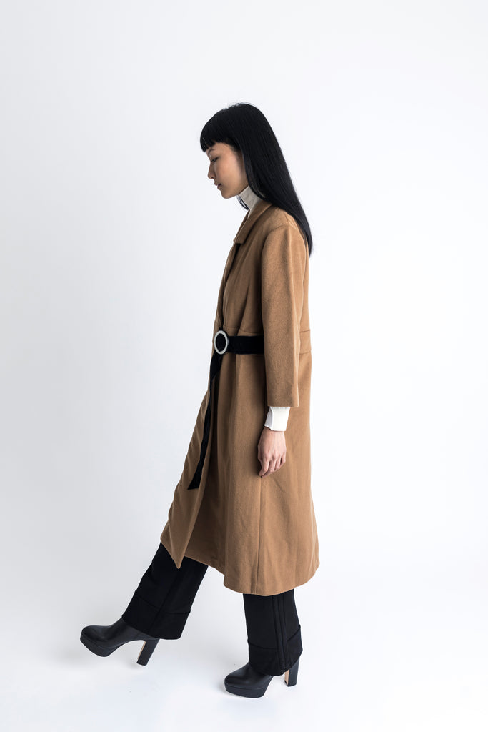 D-Ring Wool Cashmere Coat - 2s-twoways