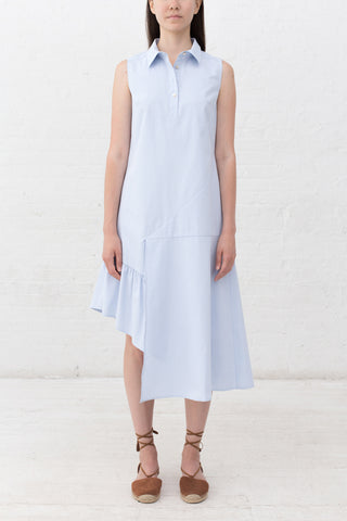 UNBALANCED SHIRTING DRESS - 2s-twoways