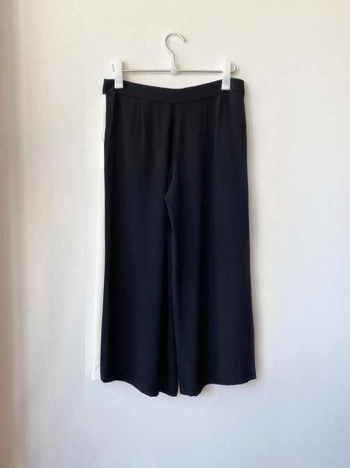 Two-Tone Crepe Pant