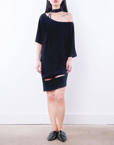 One Side Off Shoulder Dress - 2s-twoways