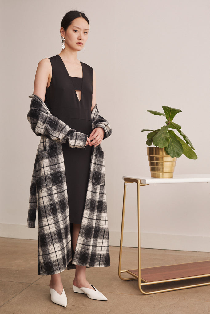 Wool Checker Robe - 2s-twoways