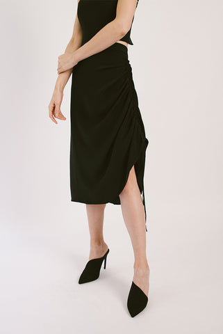Silk Crepe Twoways Skirt
