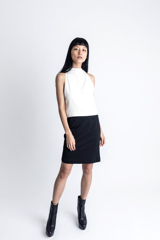 Slim Cut-out Skirt - 2s-twoways