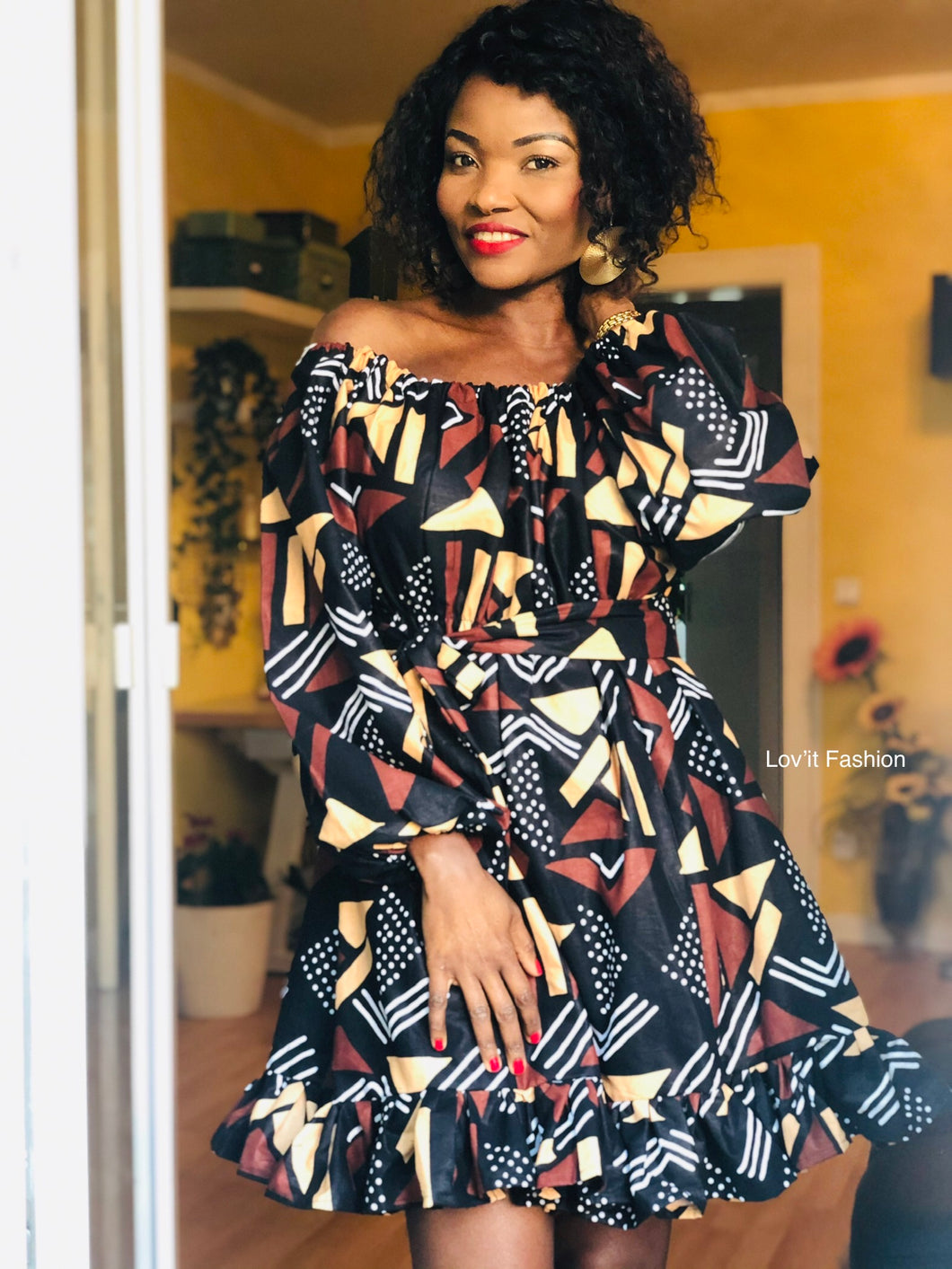 Robe Midi /Dress Ankara Clothing