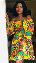 Charger l'image dans la galerie, Robe Midi /Dress Ankara Clothing