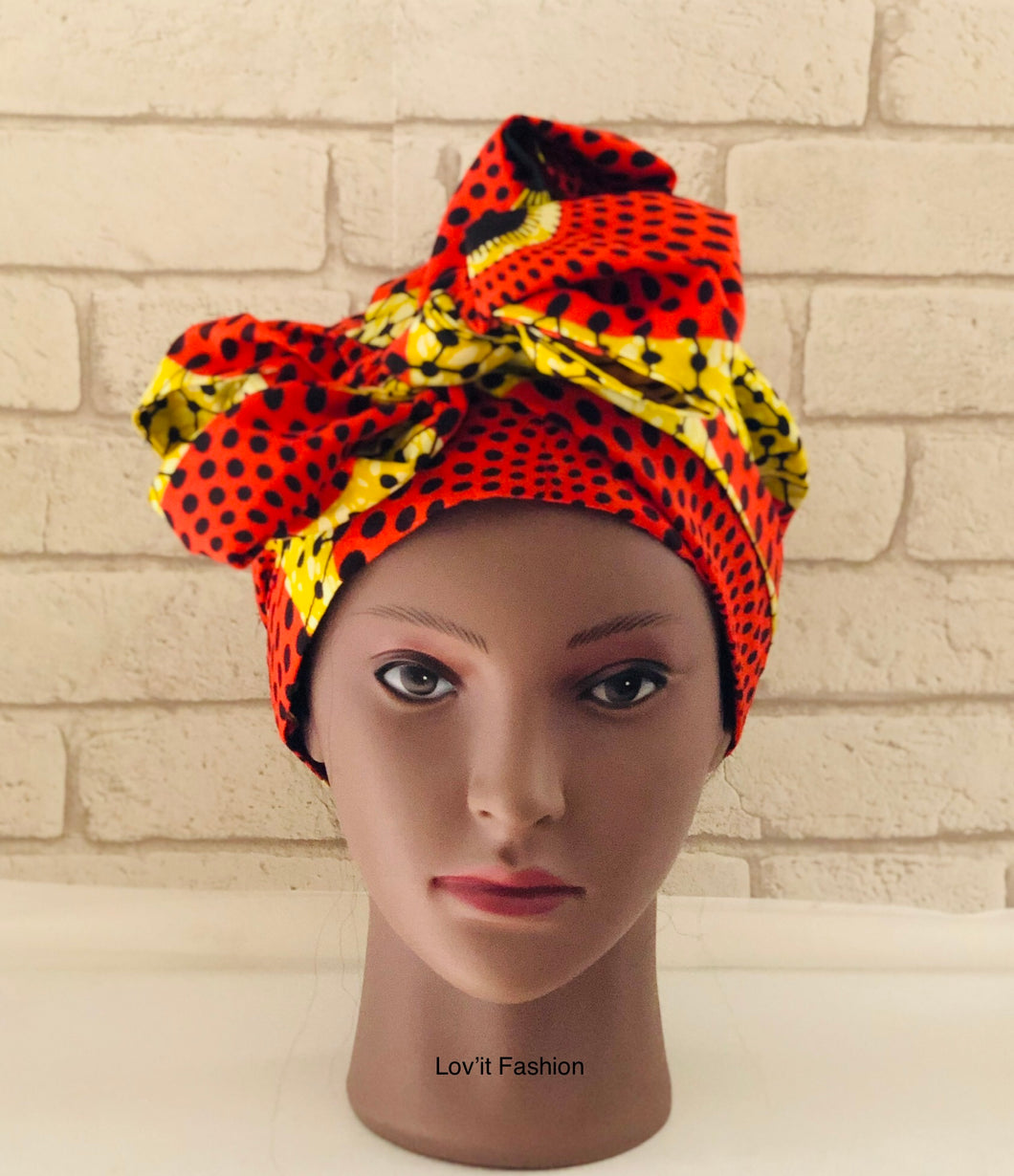 Foulard Culturel /  Bonnet Wax Satin