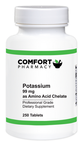 Potassium 99mg as Amino Acid Chelate