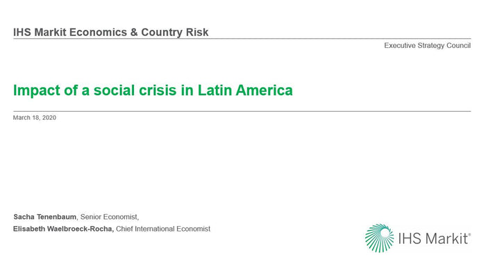 Impact of a social crisis in Latin America