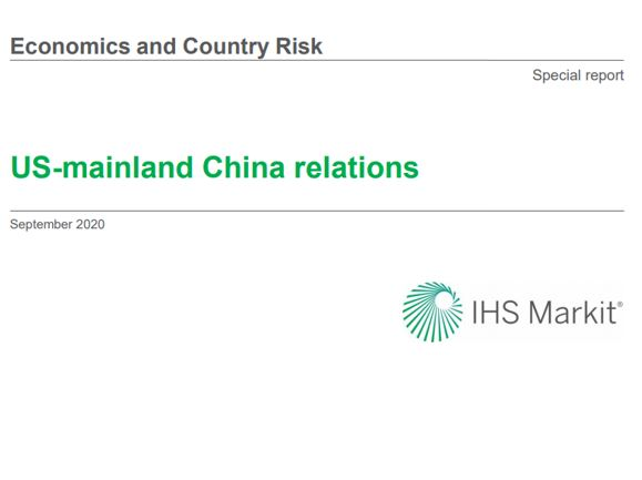 US-mainland China relations