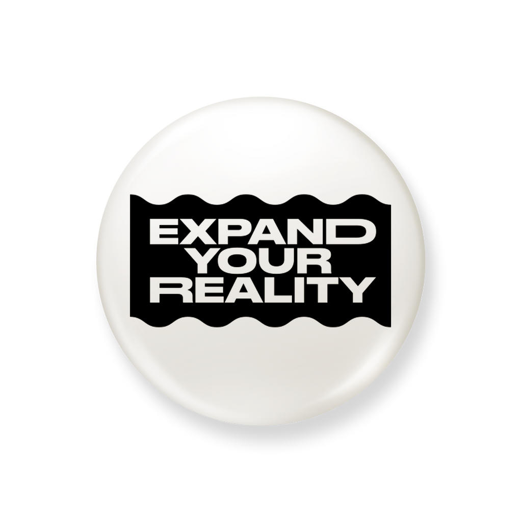 WHITE EXPAND YOUR REALITY PIN