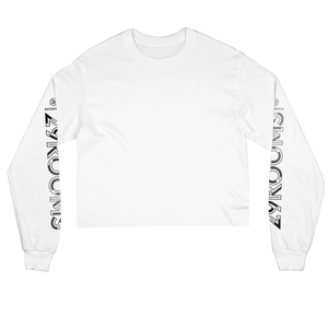 EXPAND YOUR REALITY WHITE LONG SLEEVE CROP