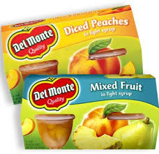 Exp 03/03/2018 Any Del Monte Fruit Cup Snack 4-Pack $1 on 2