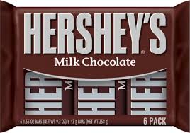 Exp 08/19/2018 Any Hershey's Milk Chocolate (6 Pack)$1 on 2