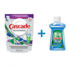 Exp 03/31/2018 Any Cascade Dishwasher Detergent Rinse Aid or Dishwasher Cleaner$.50 on 1