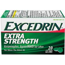Exp 10/07/2018 Any Excedrin 80 ct or Larger $1.50 on 1