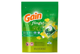 Exp 09/01/2018 Any Gain flings 26 ct or Larger(Excludes Gain Liquid Detergent, Gain Powder $2 on 1