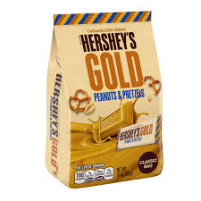 Exp 06/02/2018 Any Hershey's Gold Caramelized Creme Peanuts & Pretzels Bag (7.7 oz or Larger)$1 on 1