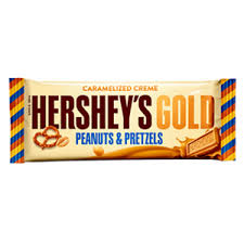 Exp 03/24/2018 Any Hershey's Gold Caramelized Creme Peanuts & Pretzels Bar $.50 on 1