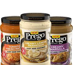 Exp 09/22/2018 Any Prego Cooking Sauce $.75 on 1