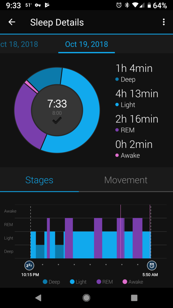 Garmin Instinct Connect screenshot