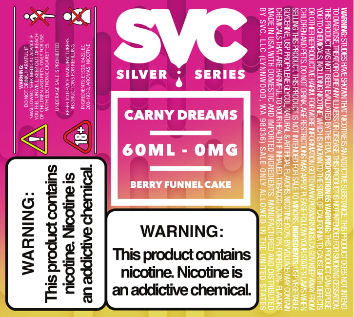 Carny Dreams 60ml E-liquid by SVC