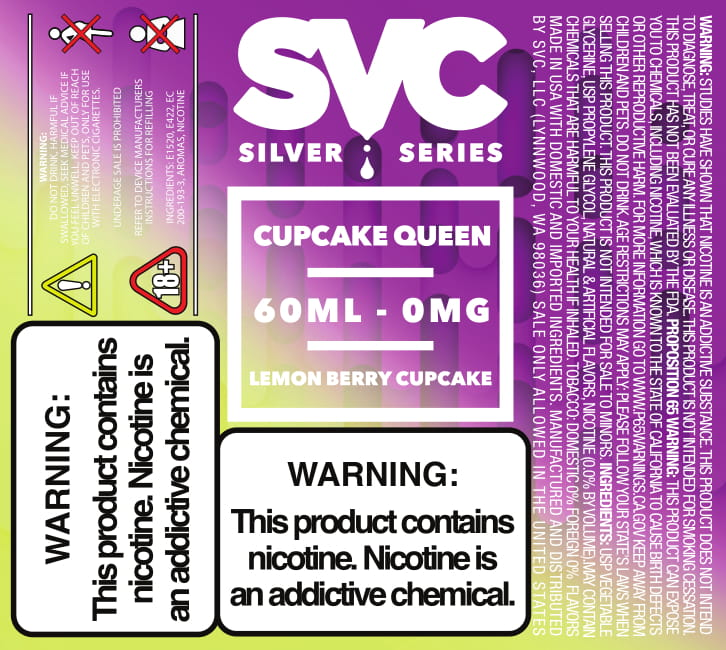 Cupcake Queen 60ml E-liquid by SVC - SVC, LLC