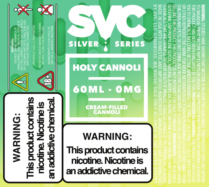 Holy Cannoli 60ml E-liquid by SVC