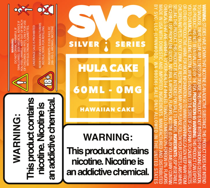 Hula Cake 60ml E-liquid by SVC