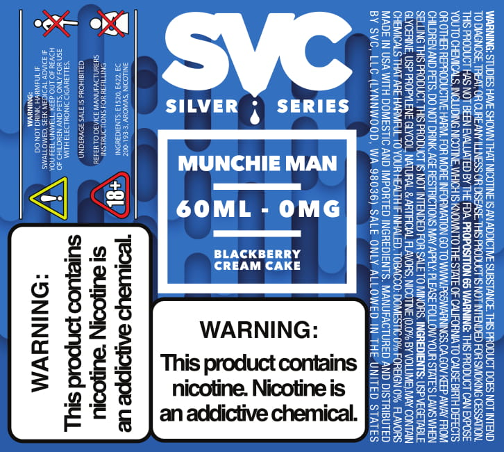 Munchie Man 60ml E-liquid by SVC - SVC, LLC