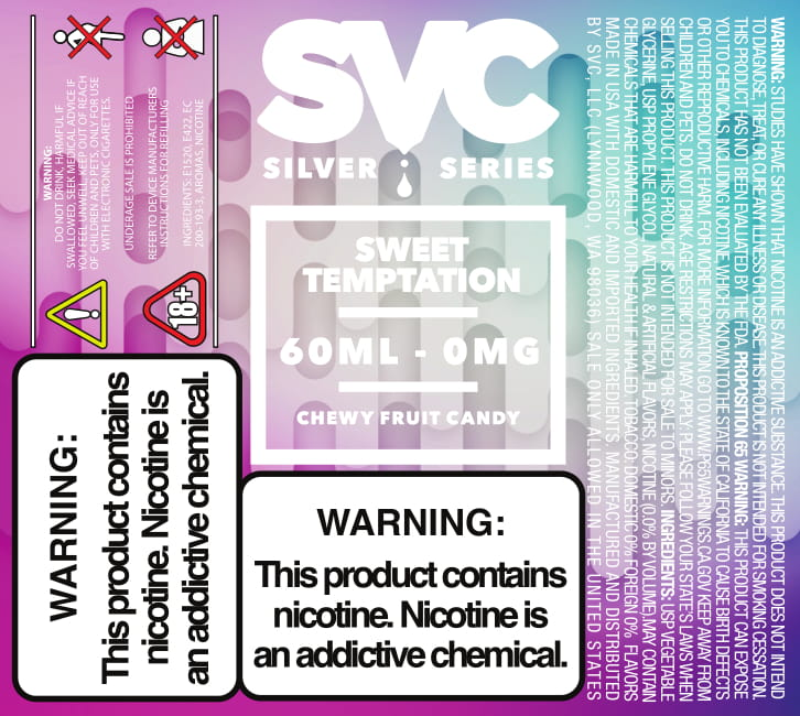 Sweet Temptation 60ml E-liquid by SVC