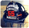 Cairns 1044 Defender Helmet with NFPA Bourkes