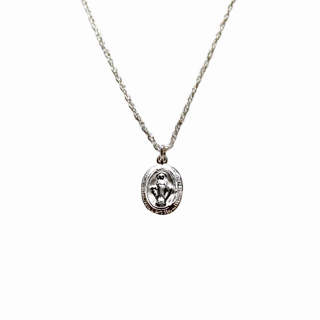 Mother Of Christ Silver Necklace