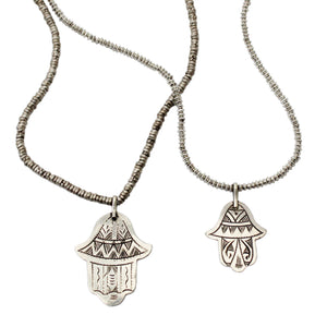 Khamsah Silver Necklace