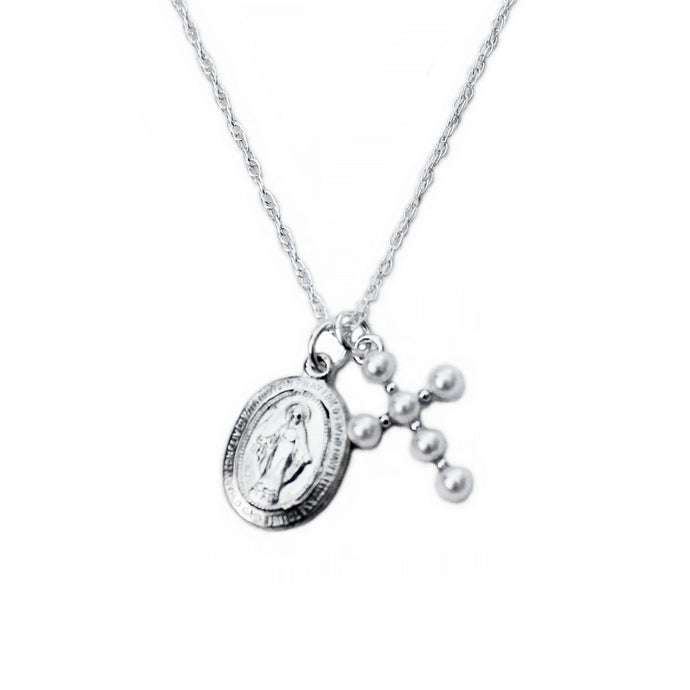 Virgin Mary Silver Necklace
